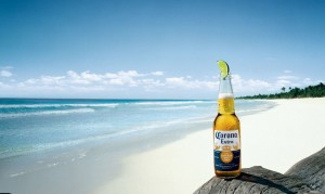 corona on the beach