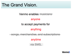 The vision from the Origins of Venmo