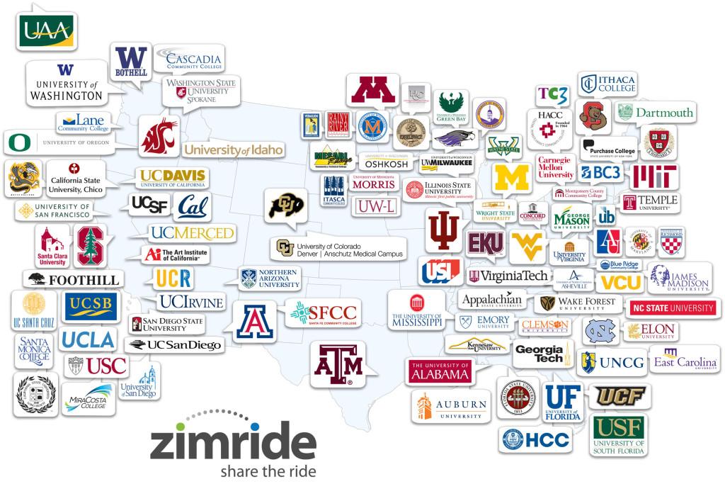 Zimride Map