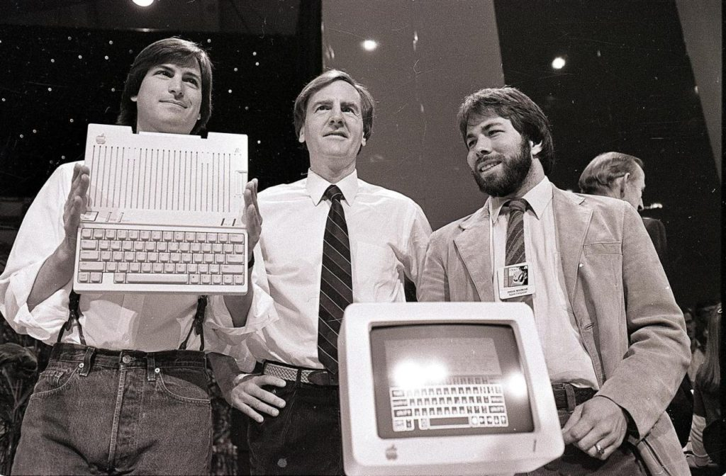 Steve Jobs, Steve Wozniak and Ronald Wayne