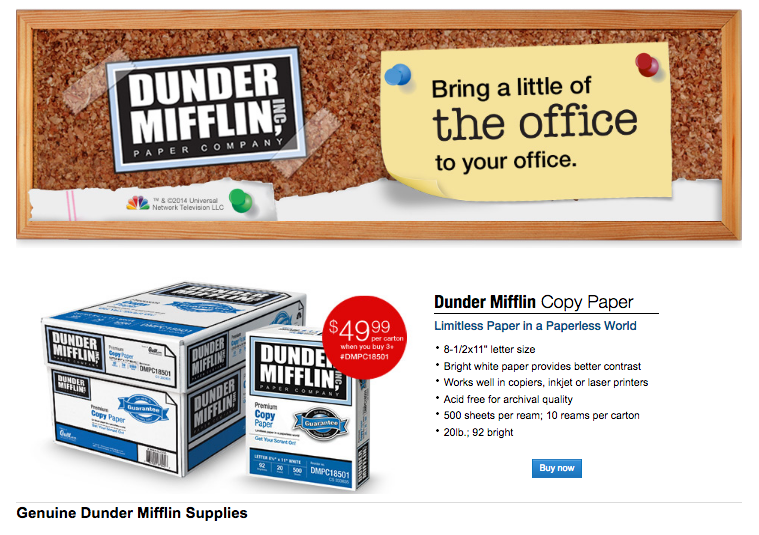 How Dunder MIfflin got its name
