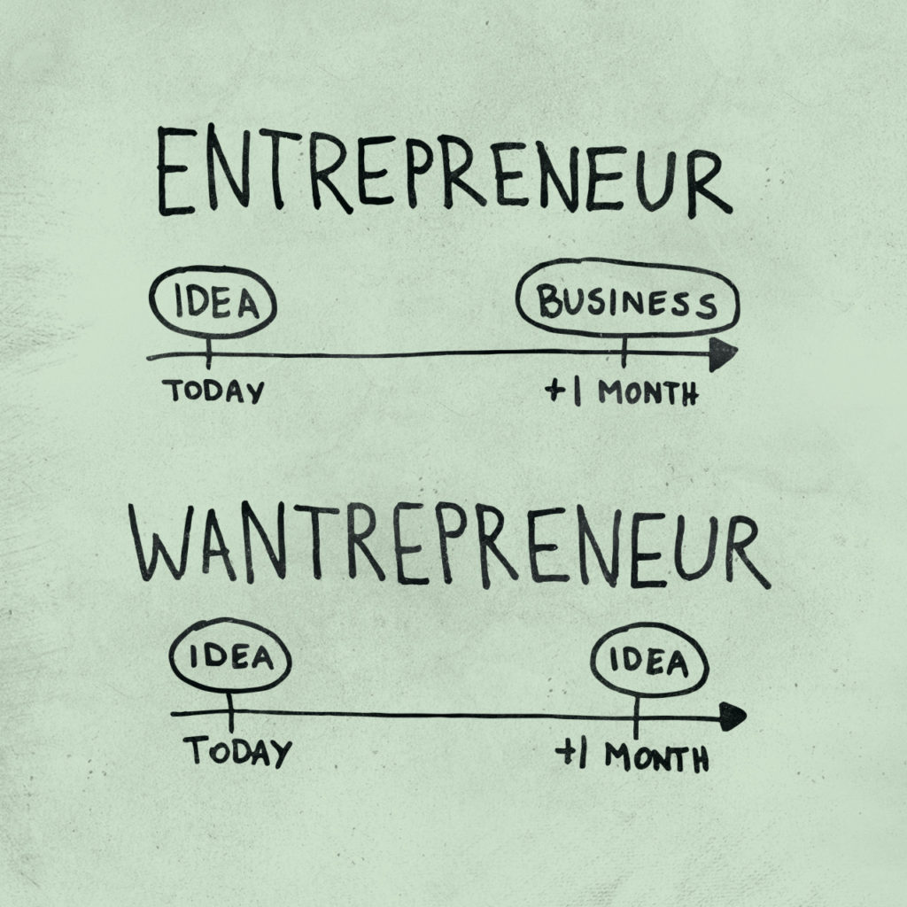 wantrepreneur vs entrepreneur