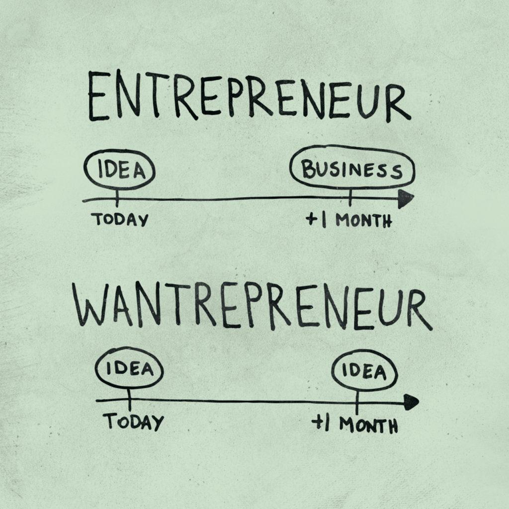 wantrepreneur vs entrepreneur