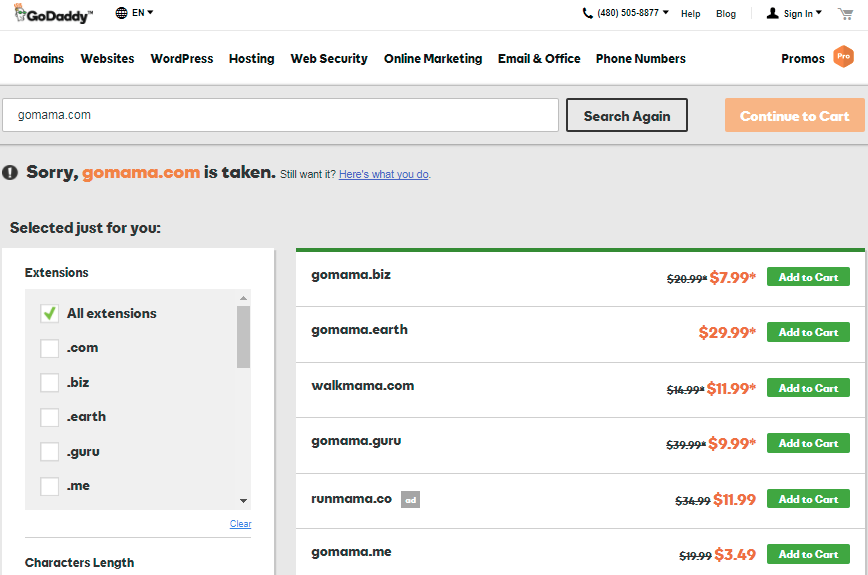Godaddy domains