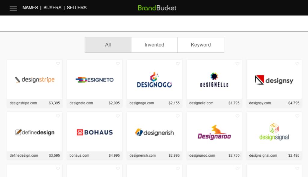 Brandable domain marketplace
