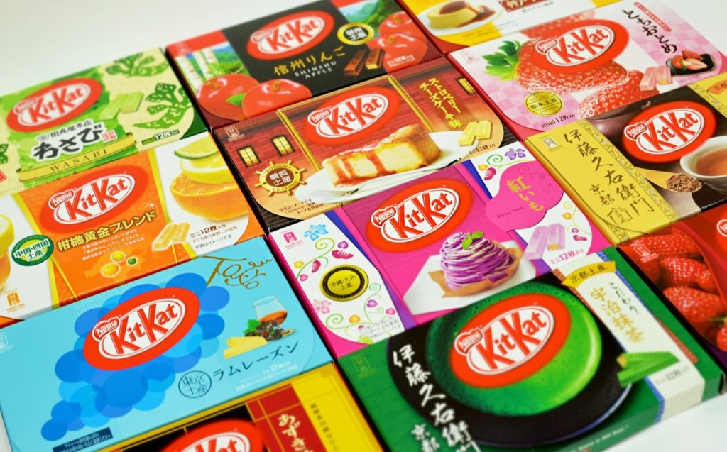 300 flavors of kit kat in japan
