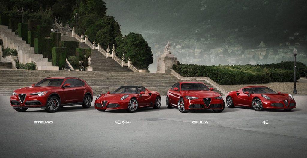 Alfa Romeo car line up