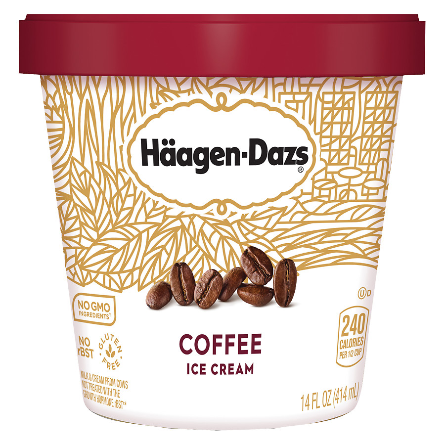Haagen-Dazs logo and ice cream